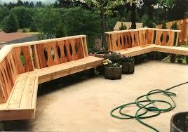 Backyard Bench Ideas With Wooden Patio Decks Designs With Garden Bench Plans Also