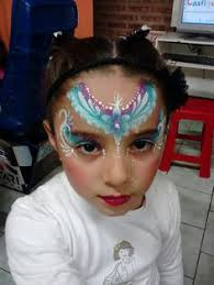 frozen face painting design idea for girls face paint princess