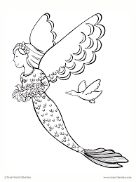 detailed mermaid coloring pages getcoloringpages com