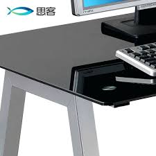 Desk Computer Case by Desk Glass Computer Desk Homebase Glass Desk With Computer
