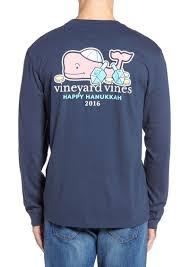 hanukkah shirts mens vineyard vines t shirt l s pocket hanukkah 2016 size small