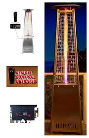 Pyramid Patio Heater by Triangle Glass Tube Patio Heater With Remote Control Patio Gas