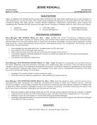 Retail Management Resume Examples by It Manager Resume Examples