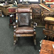 Western Furniture Western Leather Rocking Chair Handcrafted Western Furniture