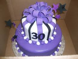 calumet bakery purple black and white fondant tiered cake with