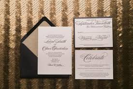black and gold wedding invitations just invite me chicago custom wedding invitations invites