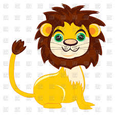 cute cartoon lion vector image 95379 u2013 rfclipart