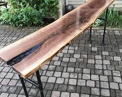 Walnut Sofa Table by Walnut Sofa Table Etsy