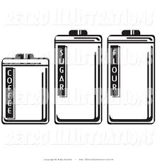 Kitchen Canisters Black Royalty Free Black And White Stock Retro Designs