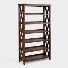 sturdy 5 shelf bookcase natural wood bookcase oak finish three