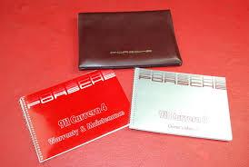porsche 1989 911 carrera 4 owner u0027s manual warranty u0026 maintenance