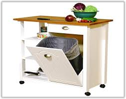 kitchen island trash bin rolling kitchen island with trash bin coppelano com mqjeygvjg6