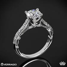 cathedral setting verragio bead set cathedral diamond engagement ring 1863