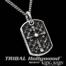 tag necklace mens images Cross relic king baby large cluster dog tag men 39 s chain necklace jpg