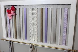 Shabby Chic Nursery Curtains by Headband Organizer Hair Bow Holder Nursery Organizer Purple
