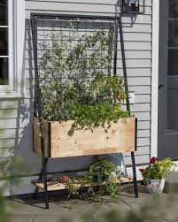 cedar planter box apex trellis planter elevated planter trellis