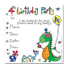 Carlton Cards Invitations 4th Birthday Dinosaur Invitation Cards Party Invitations Party Ark