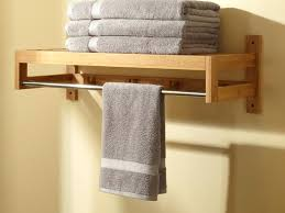 Towel Rack Ideas For Bathroom Bathroom Towel Ideas Furniture Brown Wood Bathroom Towel Rack