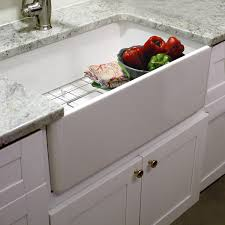 Fireclay Kitchen Sinks by Highpoint Collection 30 Inch Single Bowl Fireclay Farmhouse
