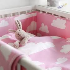 Childrens Cot Bed Duvet Sets Farg Form Pink Cloud Nursery Bedding