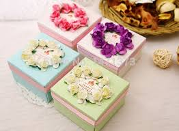 decorative paper boxes 2015 real event supplies new handmade paper wedding gift box candy