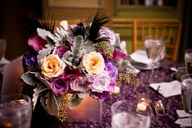 Purple Centerpieces Washington Dc Wedding Reception Sarah Michael United With Love