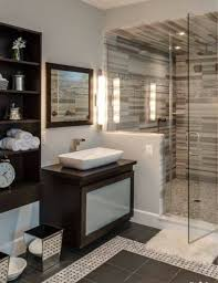 guest bathroom ideas with amazing tiles in walk in shower and