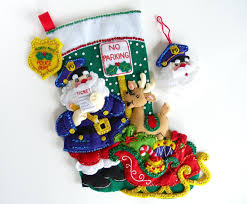 bucilla christmas stocking finished bucilla stocking personalized