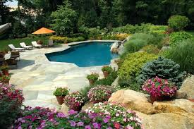Landscaping Ideas For Privacy Landscaping Around An Above Ground Pool Deck Landscaping Around