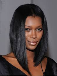long black hair with part in the middle 1 jet black silky straight middle part bob lace front wig