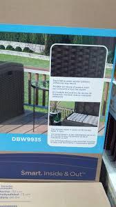 suncast resin extra large deck box dbw9935 costco weekender