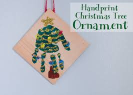 how to make a handprint tree ornament candle in the