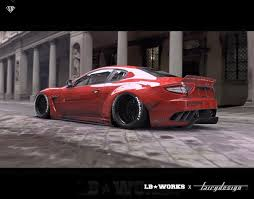 red maserati spyder maserati granturismo to get the liberty walk treatment
