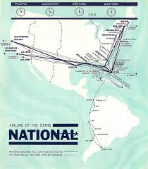 South African Airways Route Map by National Airlines Sun King Toward The End Airliners Net