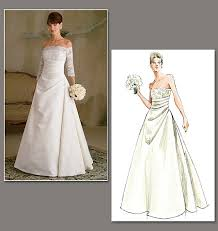 vogue wedding dress patterns the sleeves on this dress show some shoulder while covering