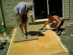 How To Install A Paver Paver Patio Installation Fast Motion Youtube