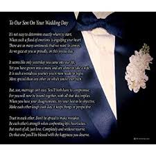 wedding gift from parents to our on your wedding day poem print 8x10