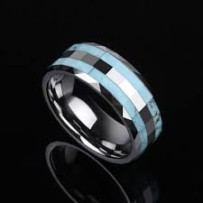 aliexpress buy u7 classic fashion wedding band rings classic design 8mm width tungsten wedding jewelry rings with blue