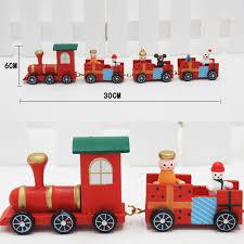 aliexpress com buy christmas wooden train red kids christmas
