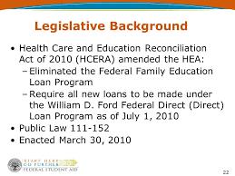 william d ford federal direct loan program regulations program compliance ppt