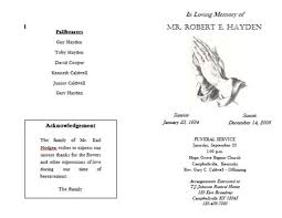funeral program format template 8 free funeral program templates