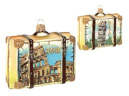 rome italy travel suitcase blown glass