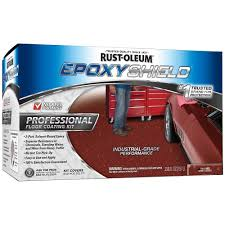 rust oleum epoxyshield 2 gal tile red semi gloss professional