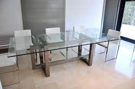 industrial glass dining table stainless steel top dining table large size of dining steel glass