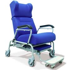 Hospital Armchairs Reclining Patient Chair On Casters With Legrest Bariatric