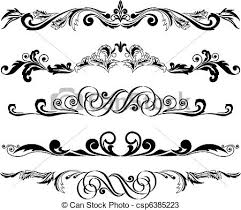 vectors of set of horizontal ornaments 2 vector illustration