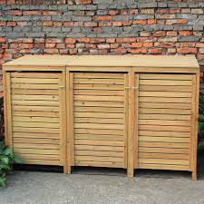 Patio Cushion Storage Bin by Woodside Wooden Outdoor Wheelie Bin Cover Storage Cupboard