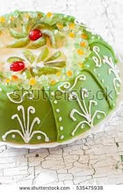 Marzipan Easter Cake Decorations by Green Marzipan Cake Stock Images Royalty Free Images U0026 Vectors