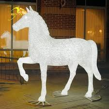 led outdoor white animals motif light buy