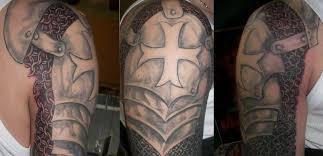 Celtic Cross Half - celtic cross half sleeve tattoos design idea for and